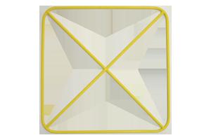 Xshaped frame